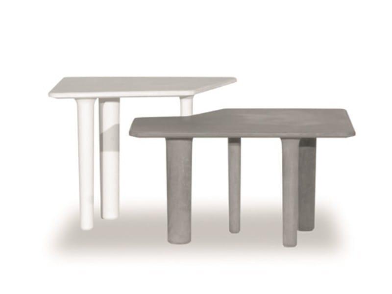 Cement garden side table JAVA - BAXTER