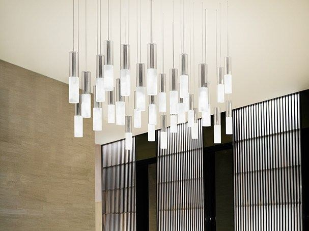 Satin glass pendant lamp JAZZ | Pendant lamp - PANZERI