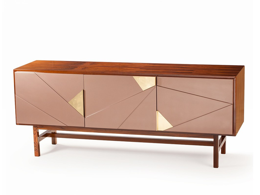 Walnut sideboard with doors JAZZ by Mambo Unlimited Ideas