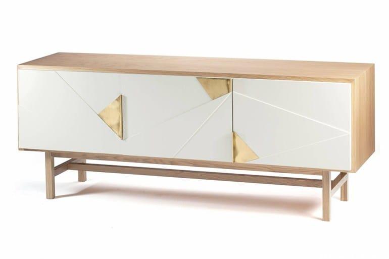 Walnut sideboard with doors JAZZ - Mambo Unlimited Ideas