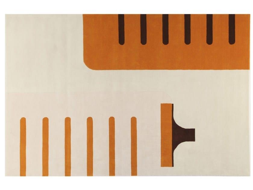 Patterned handmade rectangular rug JC 8 LUCE - ROCHE BOBOIS