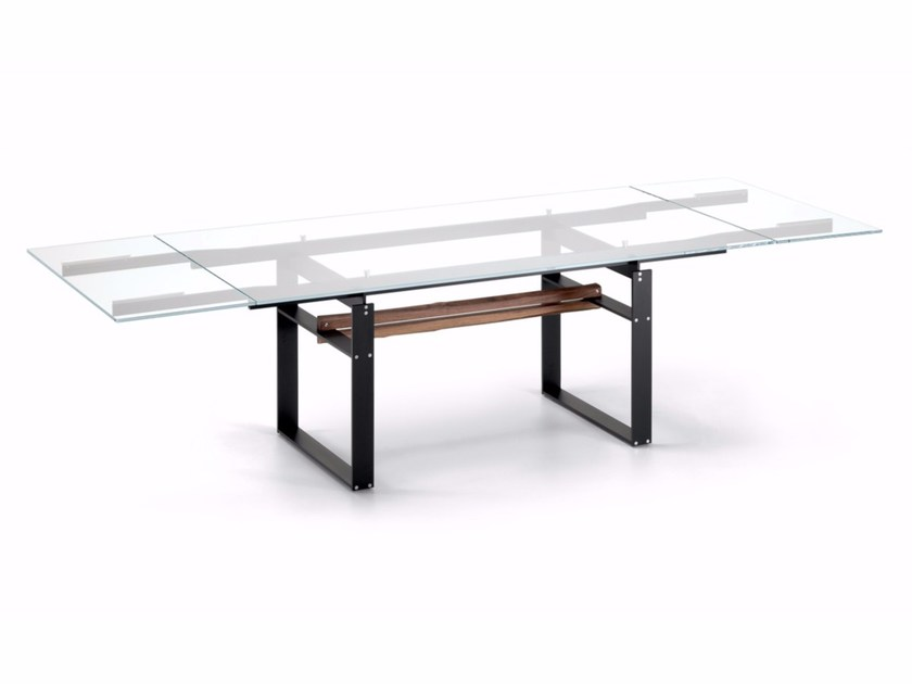 Extending crystal table JEREZ DRIVE by Cattelan Italia