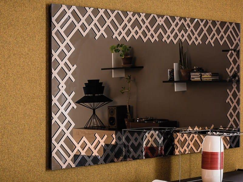 Wall-mounted framed mirror JERSEY - Cattelan Italia