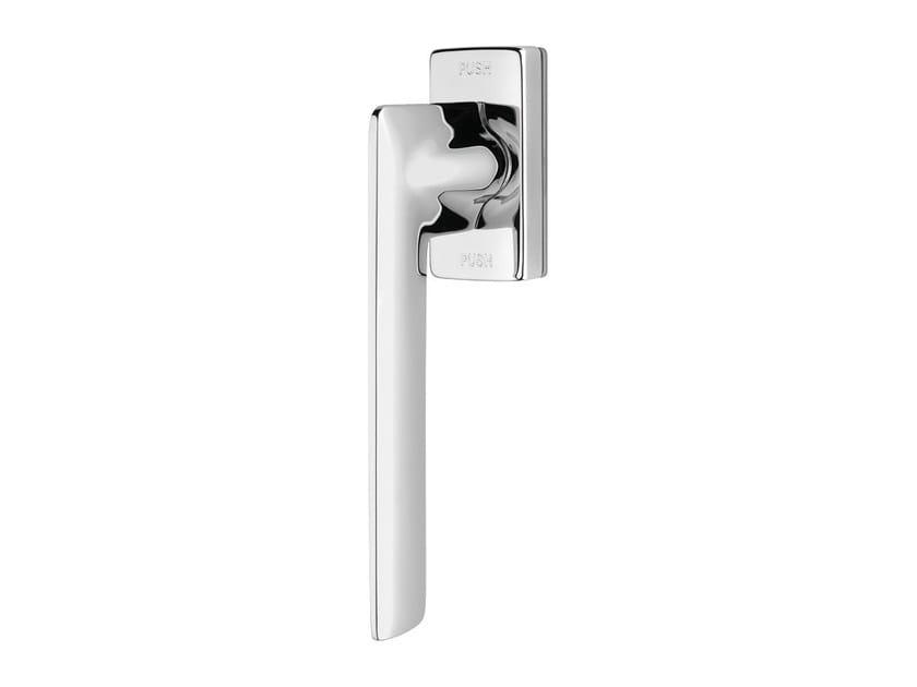 Contemporary style anti-intrusion DK brass window handle JET | Anti-intrusion window handle - LINEA CALI'