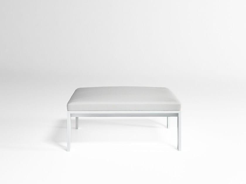 Pouf da giardino quadrato in alluminio JIAN | Pouf da giardino - GANDIA BLASCO