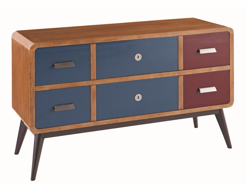 Solid wood chest of drawers JIM | Chest of drawers - ROCHE BOBOIS