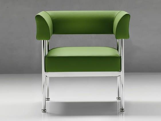 Fabric armchair with armrests JIVE | Armchair - D.M.