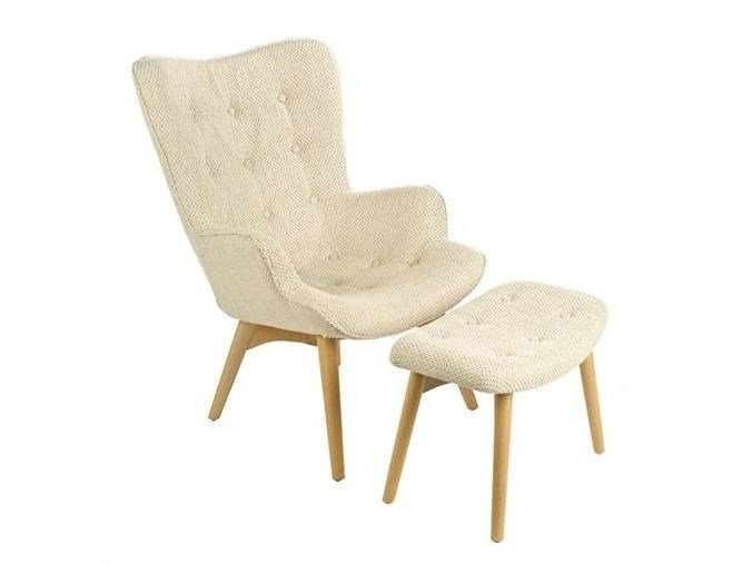 Tufted fabric armchair with armrests JOAN - Pols Potten