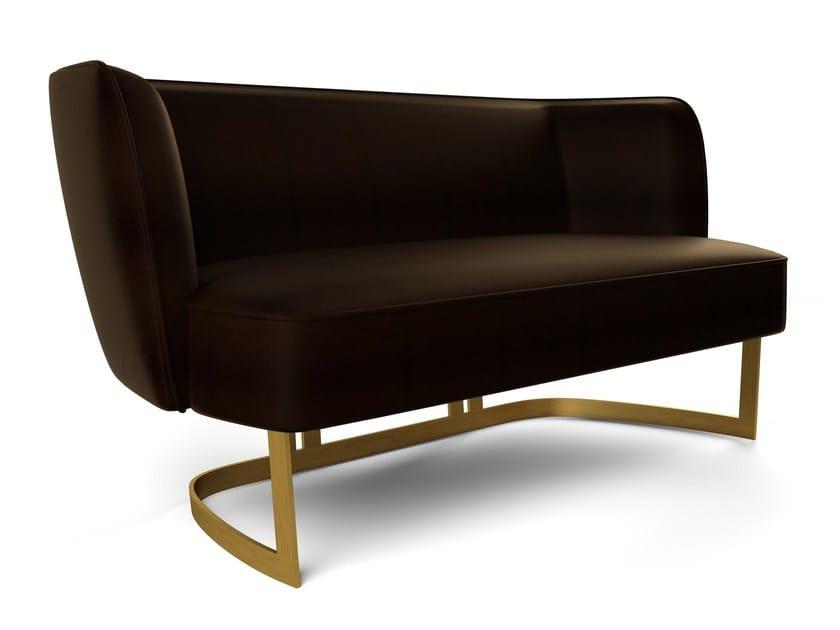 Upholstered 2 seater fabric sofa JOAN | Sofa - MARIONI