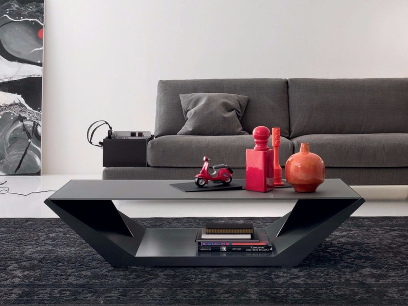 Rectangular coffee table with integrated magazine rack for living room JOE - ITALY DREAM DESIGN - Kallisté