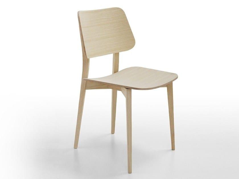 Wooden restaurant chair JOE L LG | Restaurant chair - Midj