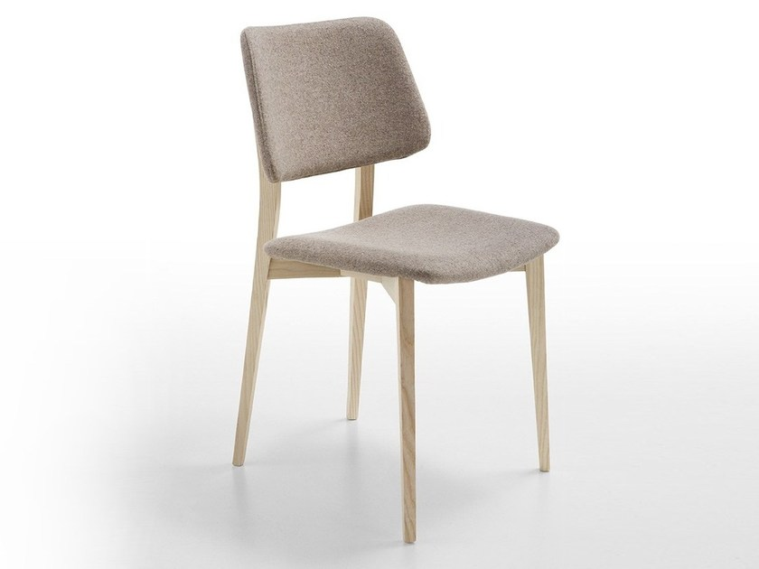 Upholstered wooden restaurant chair JOE L-TS | Restaurant chair by Midj