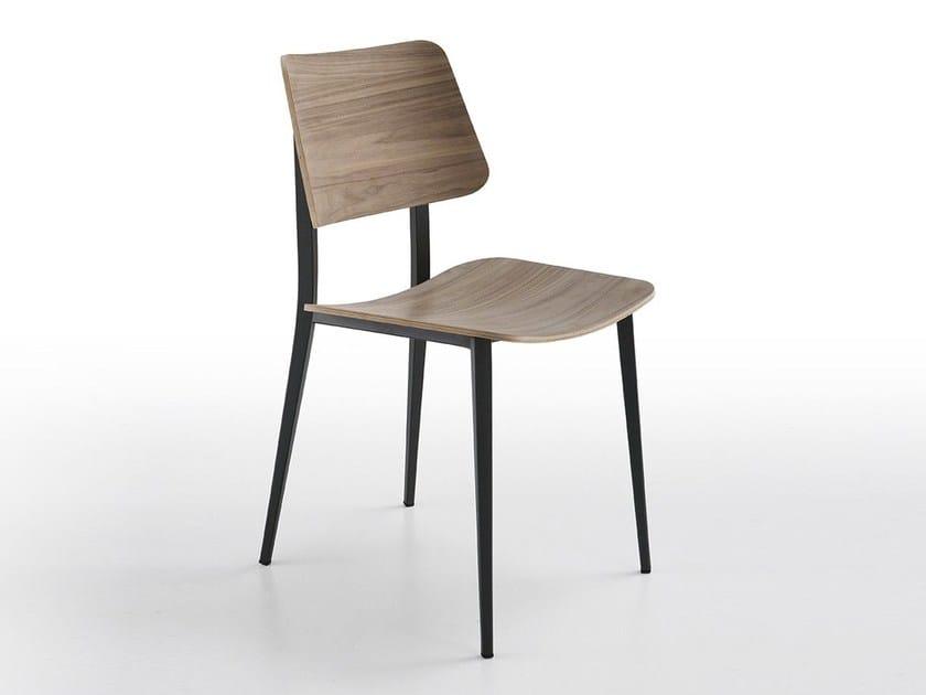 Wooden restaurant chair JOE M-LG | Restaurant chair - Midj