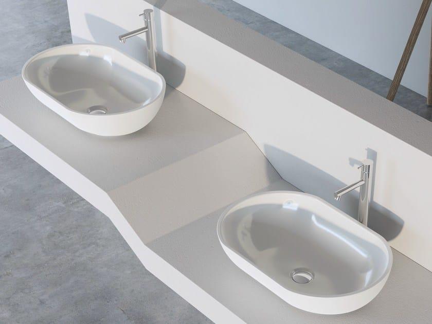 Contemporary style countertop oval single ceramic washbasin JOKER BOWL - Alice Ceramica