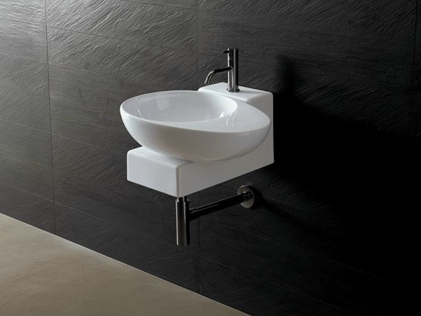 Countertop ceramic washbasin JOKER EGG - Alice Ceramica