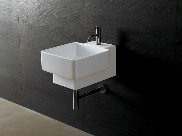 Square ceramic washbasin JOKER QUADRATO - Alice Ceramica