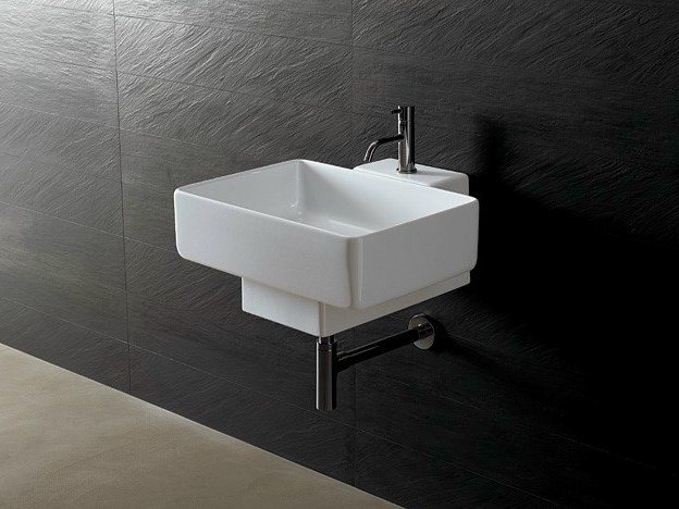 Rectangular ceramic washbasin JOKER RECTANGULAR - Alice Ceramica