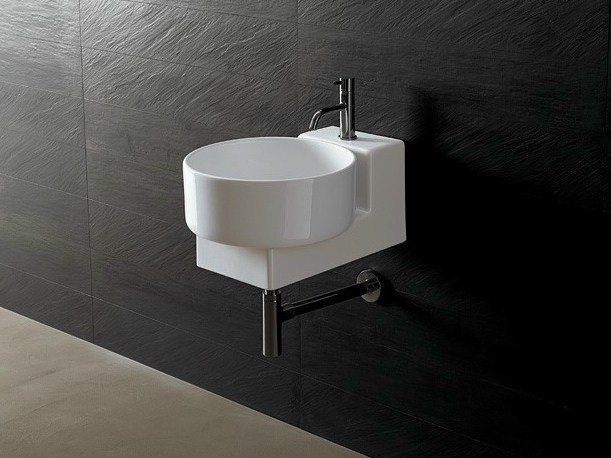 Round ceramic washbasin JOKER TONDO - Alice Ceramica