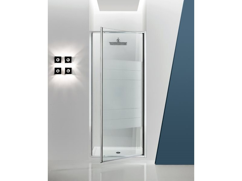 Niche glass shower cabin with hinged door JOLLY - 3 - INDA®