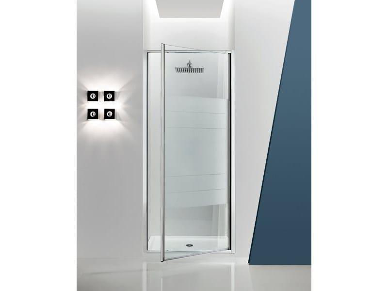 Box doccia a nicchia in vetro con porta a battente JOLLY - 3 - INDA®