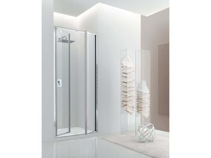 Niche glass shower cabin with hinged door JOLLY - 4 by INDA®