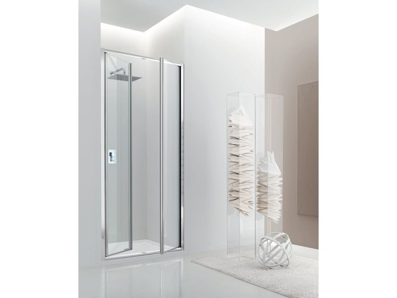 Niche glass shower cabin with hinged door JOLLY - 4 - INDA®
