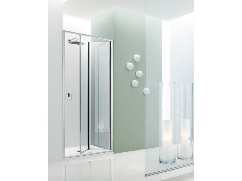 Niche glass shower cabin with folding door JOLLY - 5 by INDA®