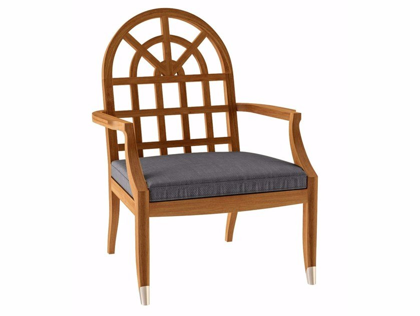 Teak garden armchair with armrests JONQUILLE | Garden armchair - ASTELLO