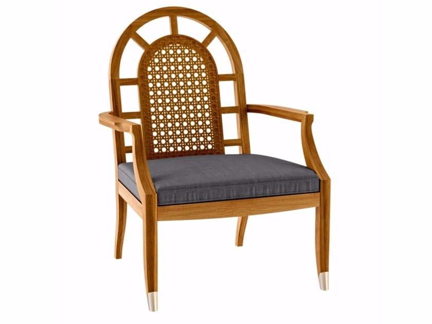 Teak garden armchair with armrests JONQUILLE   Garden armchair - ASTELLO