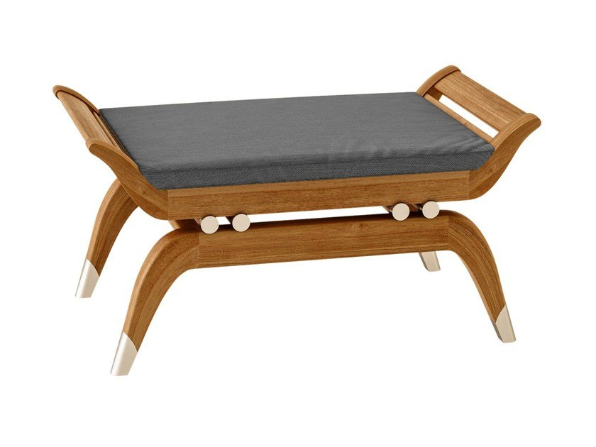 Teak garden footstool JONQUILLE | Garden footstool - ASTELLO