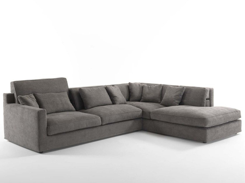 Sectional upholstered fabric sofa JORDAN | Sectional sofa by Frigerio Salotti
