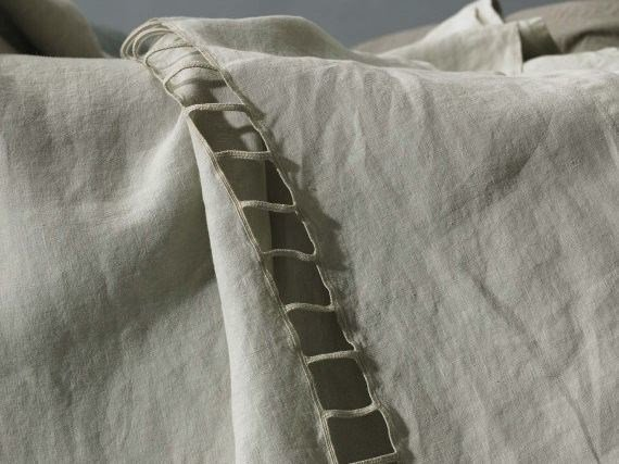 Embroidered linen sheet JOUR - Society Limonta