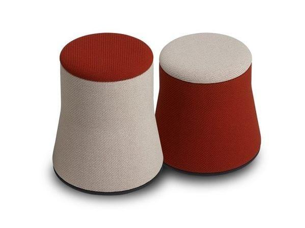 Upholstered fabric pouf JOY | Pouf - SitLand