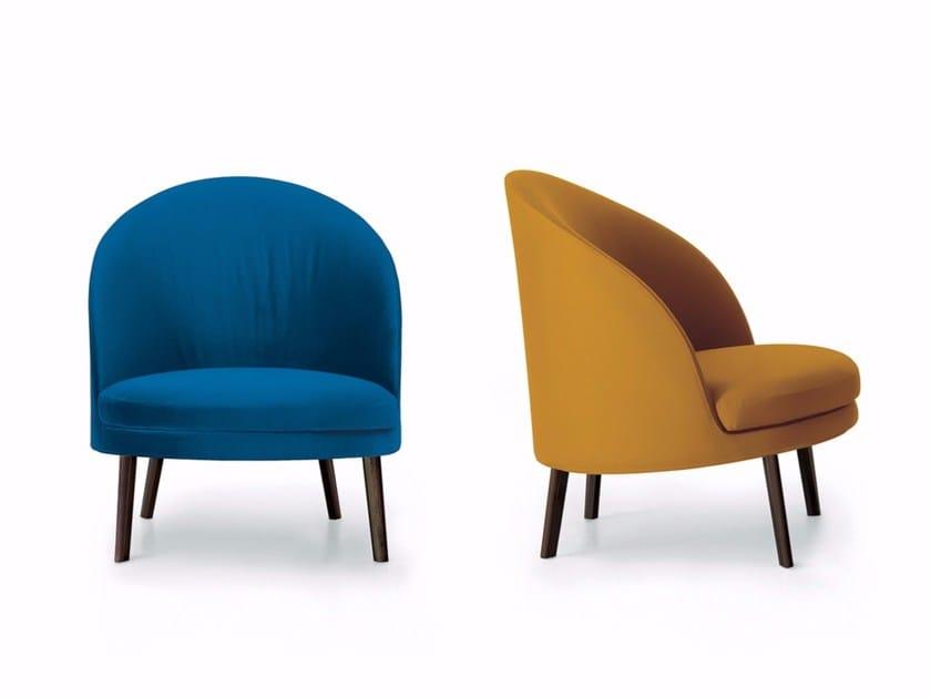 Upholstered fabric armchair JULES | Fabric armchair by arflex