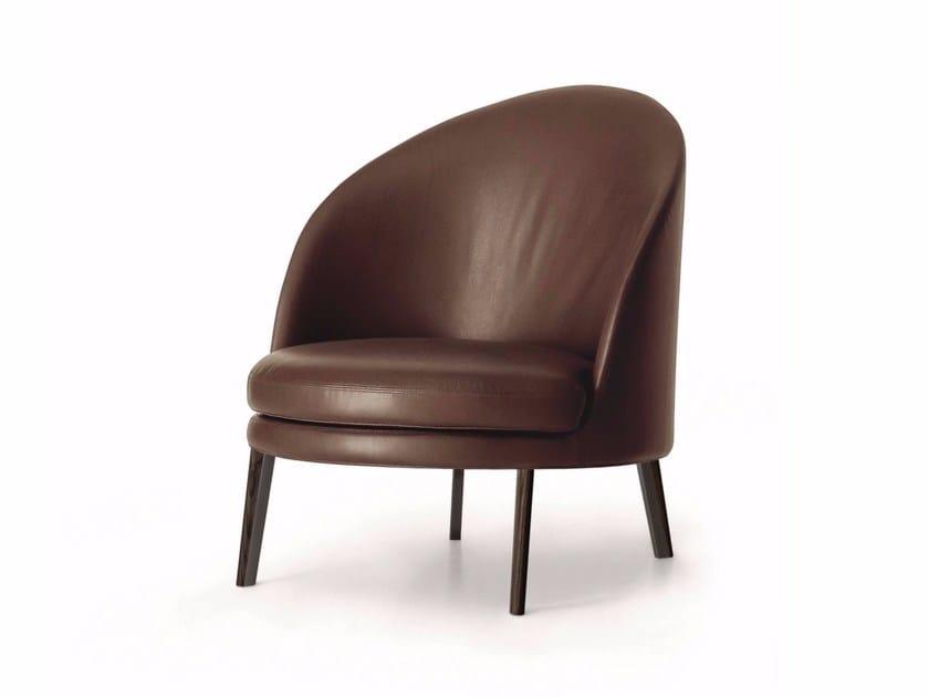 Upholstered leather armchair JULES | Leather armchair - arflex