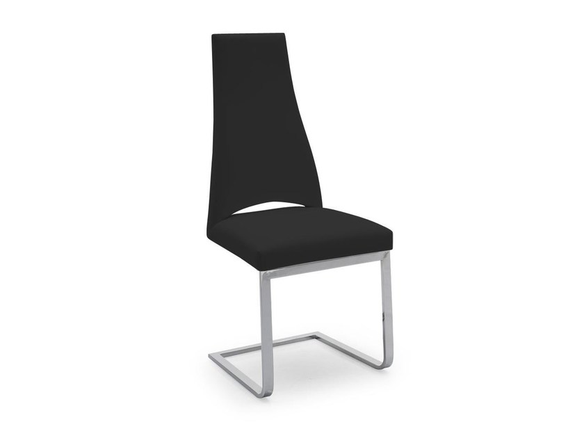 Cantilever upholstered leather chair JULIET | Cantilever chair - Calligaris