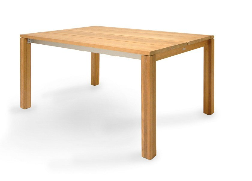Extending teak garden table JUNE | Extending table - FISCHER MÖBEL