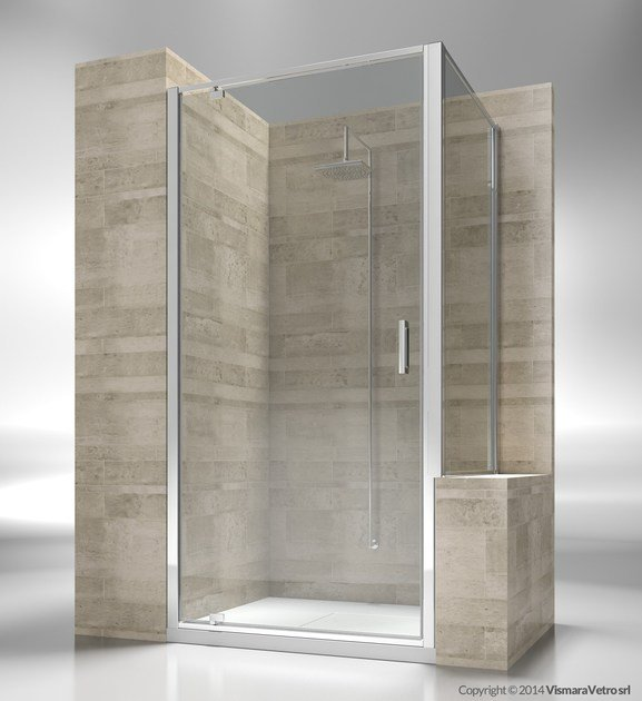 Custom tempered glass shower wall panel JUNIOR GA+GP - VISMARAVETRO