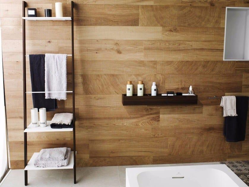 Porta asciugamani da terra in legno K | Porta asciugamani - Systempool