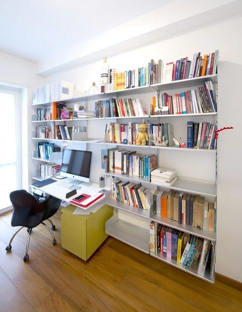 Libreria ufficio modulare in alluminio k1 libreria for Libreria ufficio