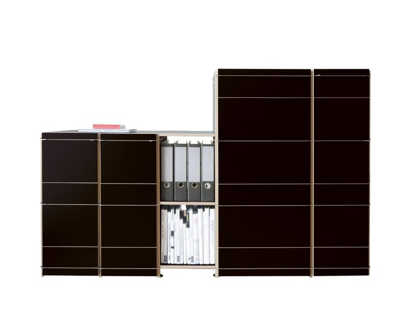 Modular MDF office storage unit with hinged doors K1 SIDEBOARD by Nils Holger Moormann