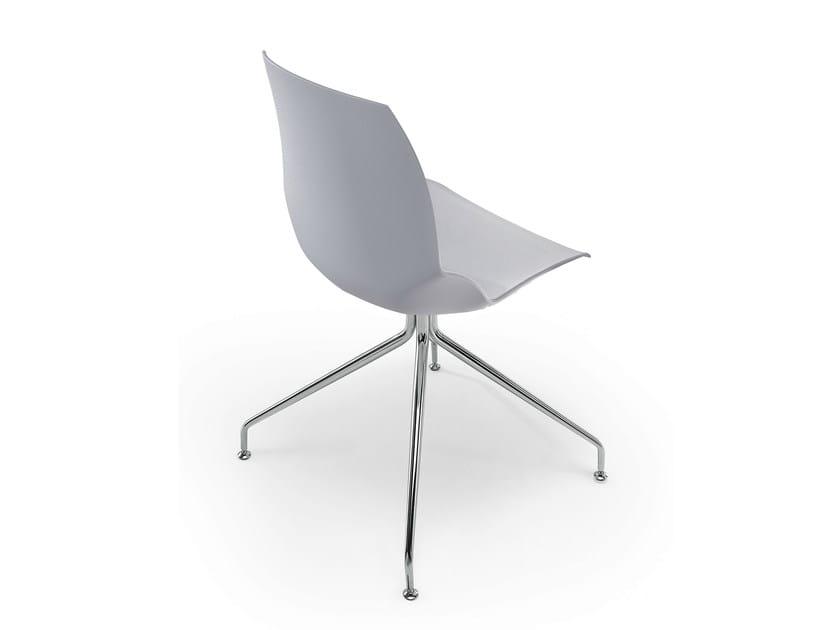 Trestle-based technopolymer chair KALEIDOS | Trestle-based chair by Caimi Brevetti