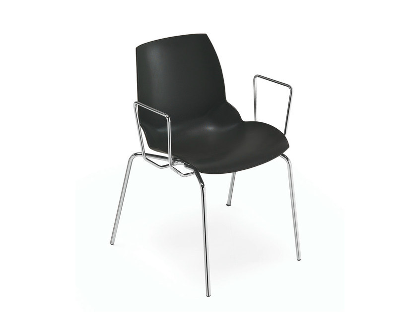 Technopolymer chair with armrests KALEIDOS | Chair with armrests - Caimi Brevetti