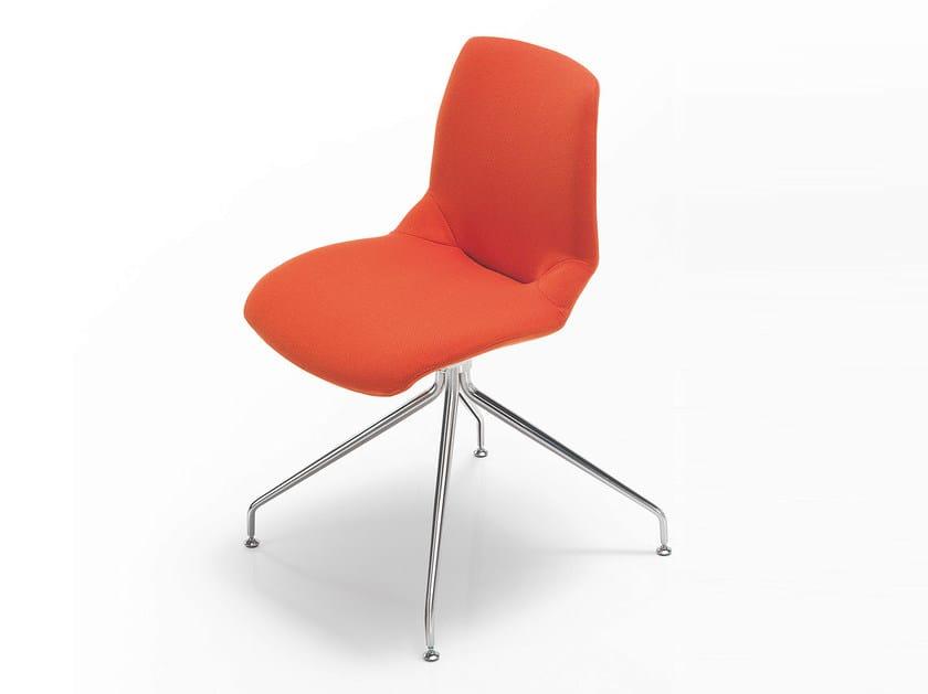 Trestle-based fabric chair KALEIDOS | Fabric chair - Caimi Brevetti