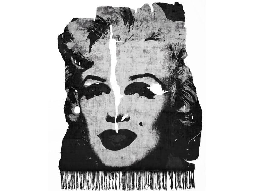 Handmade bamboo silk rug KALIX NIGHT FROZEN CUT EDIT 031C - HENZEL STUDIO