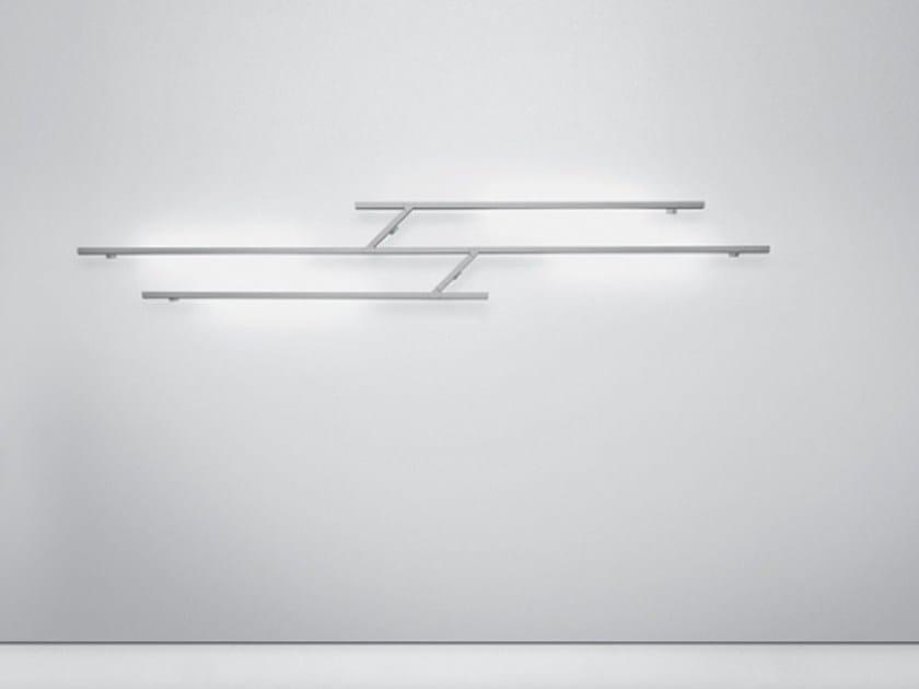 Indirect light fluorescent aluminium wall lamp KAO | Wall lamp by Artemide