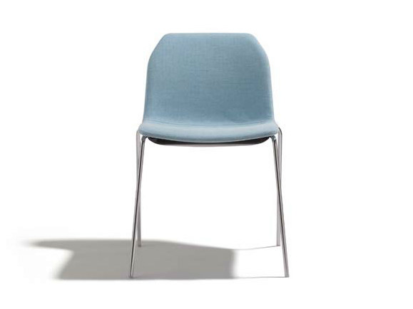 Upholstered stackable chair KAORI | Stackable chair - Potocco