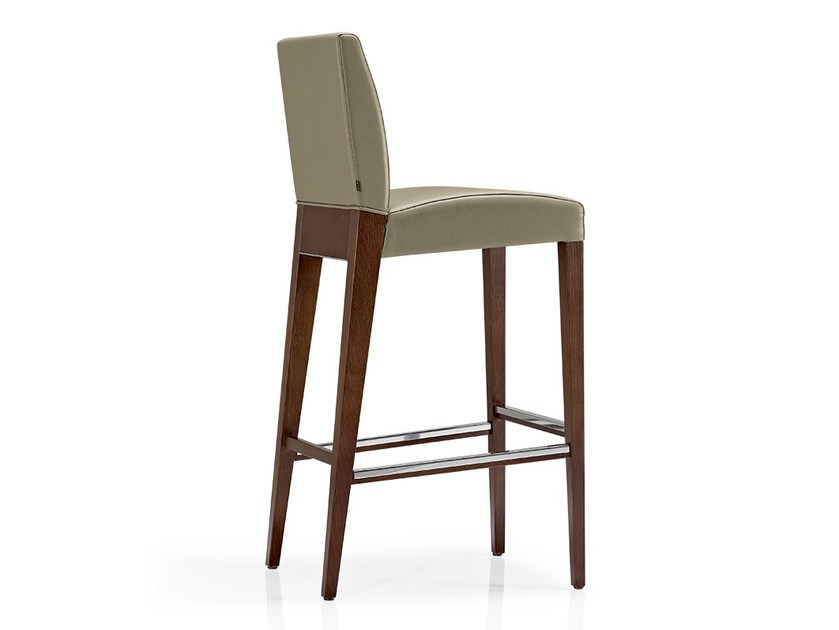 Leather counter stool with footrest KAREN | Counter stool - J. MOREIRA DA SILVA & FILHOS, SA
