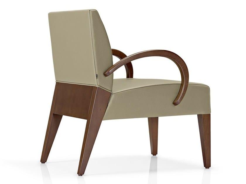 Leather easy chair with armrests KAREN | Easy chair with armrests - J. MOREIRA DA SILVA & FILHOS, SA
