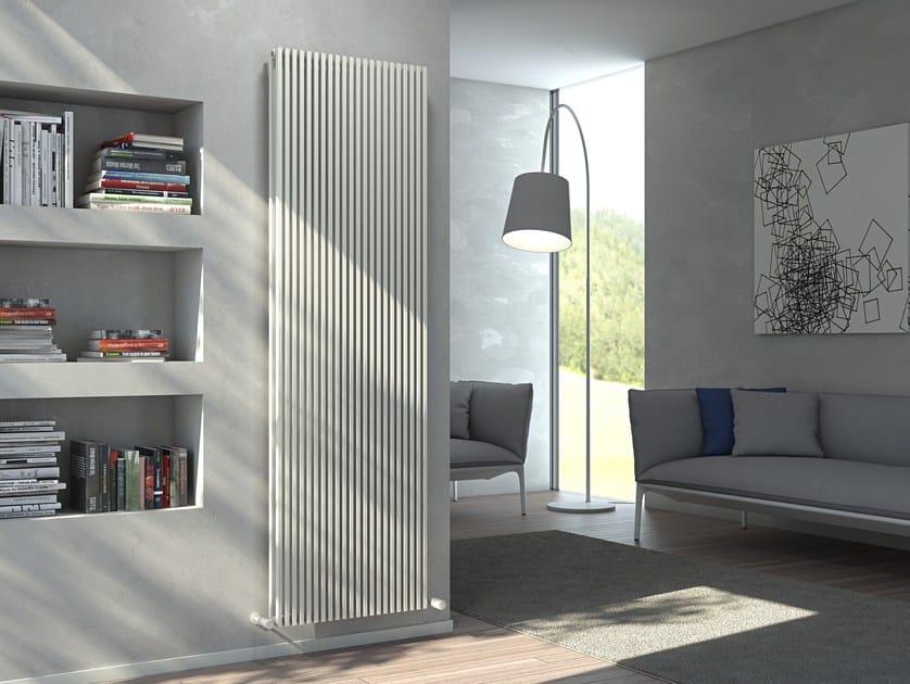 Vertical wall-mounted hot-water radiator KARIN VX TANDEM VT by CORDIVARI